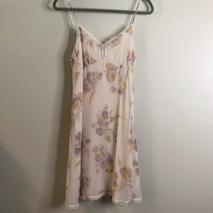 Anthropologie romantic summer slip dress